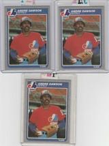 1985 Fleer Andre Dawson #394 Expos Lot of 3 - $2.00