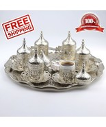 27 Count Turkish Ottoman Greek Arabic Coffee Serving Cup Saucer Gift Set... - $64.32