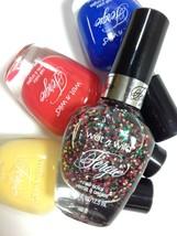 4 Fergie Wet N Wild Nail Polish Set Glitter Summer Spritzer Blue Coral Colada - $5.78