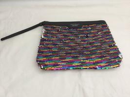 Nwot Victoria's Secret MULTI-COLOR Sequin Zipper Cosmetic Bag - $7.99