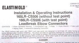 NEW ELASTIMOLD 166LR-B-6220 LB CONNECTOR W/ TEST POINT INSUL DIA: .665 TO .905 image 3