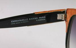 Vintage Women's Black Emmanuelle Khahn Ostrich Leather 8080 16 OS Sunglasses image 6