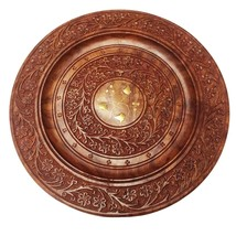 Handcarved Decorative 12 X 12 Inch Wooden Beautiful Handmade Serving Rou... - $24.50