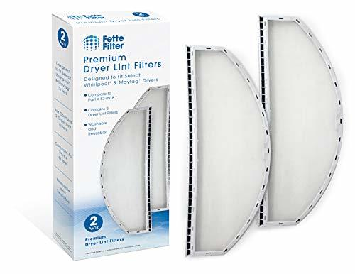 Fette Filter – Pack of 2 Dryer Lint Filter Screen Compatible with Maytag and Whi