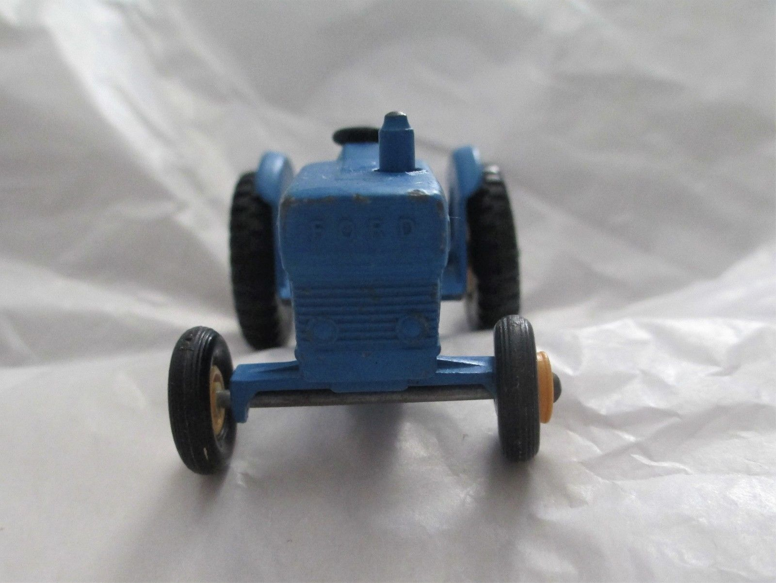 Matchbox Ford Tractor no 39 All Blue Yellow Wheels Lensey