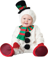 Baby Snowman , Toddler Christmas Costume , 6 TO 12 MONTHS , Free Shipping - £39.04 GBP