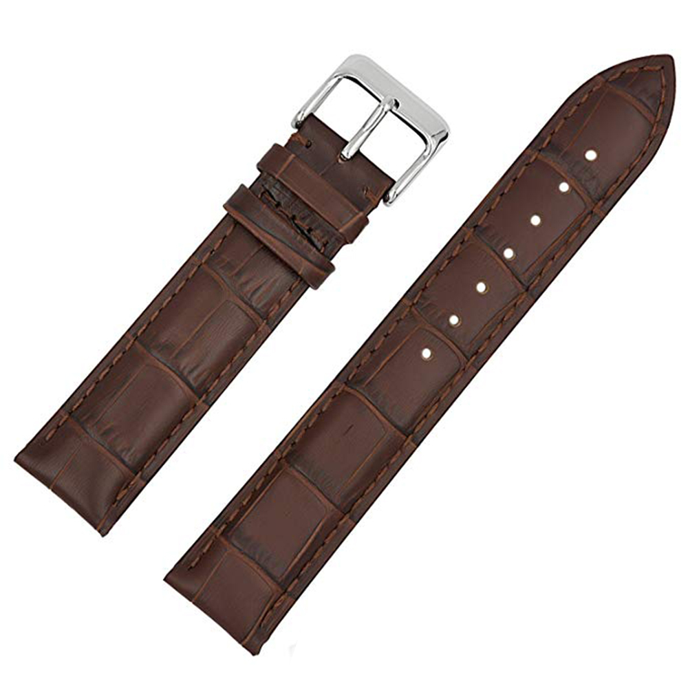 Primary image for 22mm Genuine Leather Watch Band Strap For CERTINA DS PODIUM Dark Brown