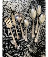 7! Oneida Carlton Silver Plate La Rose 1938 Hostess Pieces - $26.73