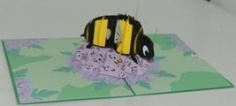 Lovepop LP1706 Bumblebee Pop Up Card with White Envelope Cellophane Wrapped image 3