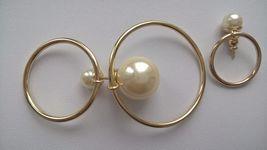 Authentic Christian Dior Mise En Dior Tribal Hoop Pearl Earrings  image 2