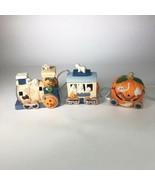 Vintage Halloween Train Ceramic Light-Up Decor - $29.70