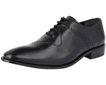 Libertyzeno Men's Oxford Genuine Leather Burnished Toe Formal Lace up Dress Shoe - $2.107,05 MXN