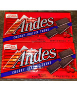 Andes ~ Cherry Jubilee Thins Candy 4.67 oz Each,  56 Pieces ~ 07/2021 - $16.82