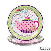 Tea Party Paper Dinner Plates - $3.61