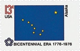 1976 13c Alaska State Flag, Bicentennial Era Scott 1681 Mint F/VF NH - $1.79