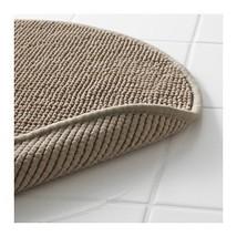 Ikea Beige Tan Supersoft Bath Shower Mat Rug Bathtub Bathroom Floor Round - $21.51