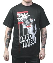 Dissizit! x DMC Mens Black Hard Times Official Run DMC Collaboration T-Shirt NWT