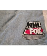 NHL on Fox Long Sleeve Denim Shirt Large Pocket NHL Hockey Lee Sport Cotton - $16.99