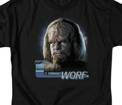 Star Trek The Next Generation Sci-Fi LT. Commander Worf graphic t-shirt CBS614 image 2