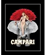 Campari Apertiff Liquor Poster, Sexy Bar Wall Art, Burlesque Elephant Wall Decor - $19.99 - $31.99