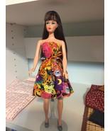 "2016 Handmade HALLOWEEN Barbie Jenny Liv 11.5"" PARTY DRESS Pumpkins Cats... - $28.70"