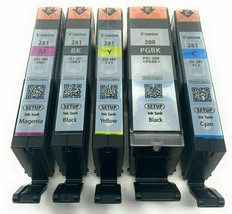 OEM Combo Printer 5 Ink Cartridge for Canon Pixma PGI-280 Black CLI-281 Color - $74.46
