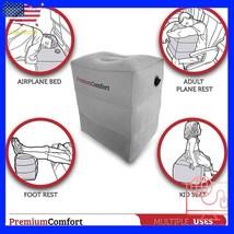 Inflatable Travel Footrest Rest Pillow Leg Foot cusion Portable Pad Kids... - €24,39 EUR