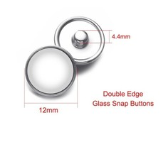 Custom New Glass Snap Button Send Your Pictures to Custom Charm for Snap... - $16.05