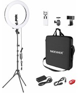 Neewer Advanced led light ring adjustable 2,4g 48cm lcd screen and remot... - $136.20