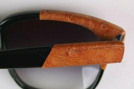Vintage Women's Black Emmanuelle Khahn Ostrich Leather 8080 16 OS Sunglasses image 8