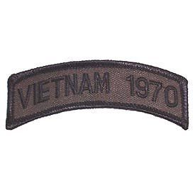 Primary image for VIETNAM 1970 OD SUBDUED SHOULDER ROCKER TAB EMBROIDERED MILITARY PATCH