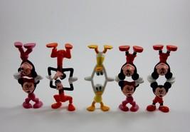 """Disney Mickey Minnie Goofy Donald Doing Handstands 2 1/2"""" Stackable Figu... - $29.69"""