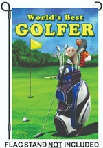 World's Best Golfer Garden FLAG-12 X 18 Inches - $9.99