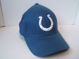 Indianapolis Colts NFL Football Hat Blue Reebok One Size Stretch Fit Cap - $15.36