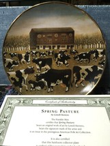 Spring Pasture The Franklin Mint Collector Plate Lowell Herrero Folk Art Cows - $29.69