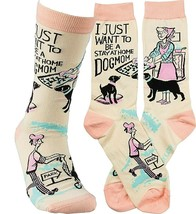 Women's I Just Want To Be A Stay At Home Dog Mom Stretch Socks - $10.40