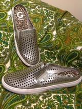 G By Guess Obsess Sz 10M Women's Silver Mules Sneakers Shoes W/CUTOUTS Mrsp $79 - $24.74