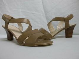 Franco Sarto 9.5 M Warwick Natural Leather Open Toe Heels New Womens Sho... - $47.40