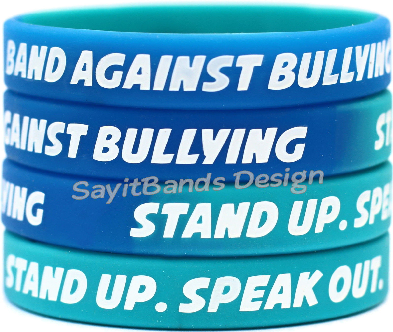 Primary image for 100 Band Against Bullying Wristbands - Big Set of Anti Bully Bracelets