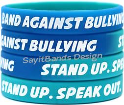 100 Band Against Bullying Wristbands - Big Set of Anti Bully Bracelets - $49.88