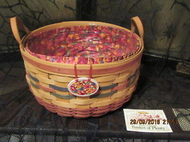 LONGABERGER BASKETS 1995 HALLOWEEN/FALL BASKET OF PLENTY  RETIRED - $95.00