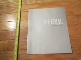 1981 Chrysler Imperial Car auto Dealer showroom Sales Brochure - $9.99