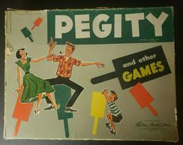 Vintage 1953 Parker Brothers Pegity Peg Board Game - £18.84 GBP