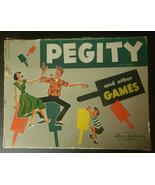 Vintage 1953 Parker Brothers Pegity Peg Board Game - £18.49 GBP