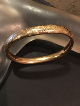 Antique Victorian 14K Gold Filled Bangle Bracelet Pat'd Dec 26, 1905 Bat... - $350.00