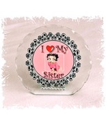 Betty Boop Diamante Plaque gift for Sister Perfect keepsake Ltd Edition #1 - $32.02
