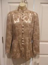 New In Pkg Frederick's Of Hollywood Cocoa Oriental Jacket Made In Usa Size 7 - $39.59