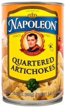 Napoleon Quartered Artichokes, 13.75 Ounce Tin (Pack of 6) - $27.65