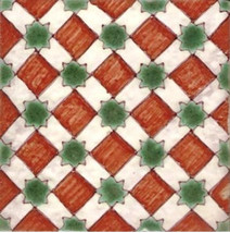 Portuguese Tiles Beja   Repetitive Patterns   Hand Painted Ceramic Tile ... - $25.00