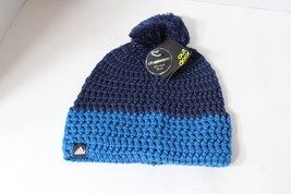 New Adidas Running Jogging Casual Outdoor Chunky Beanie Hat Cap Blue Str... - $23.71